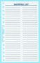 "165 - Shopping List Sheets - 8"" X 5"""
