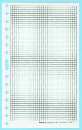 "171 - Grid Refill Sheets - 8"" x 5"""