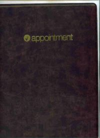 "D7897 -Complete Vinyl Professional Daily Appointment Book - Binder Dimension 11 5/8"" X 10 15/16"" Paper size 8 1/2"" x 11""  Click here for years available"
