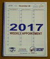 "D2844 S- Dated Weekly Spiral Appointment Booklet - 8 1/2"" X 11""  Click here for years available"