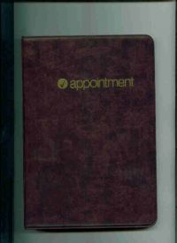 "D6347 - Complete Vinyl Dated Daily Appointment Book - Binder Dimension 9 1/4"" X 6 5/16"" Paper size 8"" x 5""  Click here for years available"
